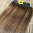 5 Clips One Piece Clip In Human Hair Extensions With Lace Straight Brazilian Virgin Hair Ombre Balayage 4 27 4