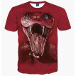 3D Printed T-shirts Men Short sleeve Blouse Hipster Costume Boys Tops -Snake Head