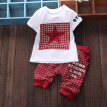 Summer Baby Boys Clothes Casual Cotton Lovely Short Sleeve Shirt + Pant Infant Newborn Baby Suit Children Clothing