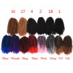 8 inch Ombre Marlybob Crochet Braids 3pcs/pack Afro Kinky Twist Hair 90g/pack Synthetic Crochet Hair Extensions