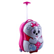 SMJM 12 Inch ABS Hard Side Cartoon Kids Luggage Small Trolley Case with Wheels for Girls and Boys