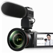 ORDRO Z82 HD camcorder 5-axis anti-shake 10x optical zoom 120x intelligent zoom 4K optical wide-angle lens microphone photography light