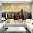 Custom 3D Photo Wallpaper For Living Room Sofa TV Background Wall Mural Wallpaper City Building Wall Covering Paper Home Decor