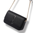 Toutou small bag female Korean version of the simple wild fashion small square bag mini chain bag shoulder Messenger bag 7586 night black
