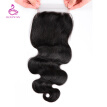 Silkswan Lace Closure Bazilian  Body Wave Remy Hair Natural Color 8-20inch Human Hair Free Part 4*4 Free Shipping