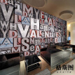 3D photo wallpaper 3D stereo personality letters European Bar Cafe sofa backdrop mural wallpaper