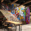 Custom Any Size Modern Fashion Street Art Graffiti Stereoscopic Stairs Bar KTV Cafe Mural Background Photo Wall Paper Painting