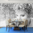 Custom Photo Wallpaper Modern Fashion Black White Abstract Art Beauty People Background Mural Wallpaper For Bedroom Walls 3D