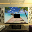Custom 3D Photo Wallpaper Large Mural Summer Beach Landscape Palm Seagull Hall Bedroom Living Room Sofa TV Background Wall Paper