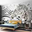 Modern Simple Abstract Art Wallpaper 3D Black And White Lines Zebra Mural Living Room Bedroom Background Fashion Wall Papers 3 D