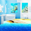 Free Shipping Beach shell 3D stereo flooring wallpaper living room park decorative waterproof floor mural 250cmx 200cm