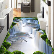 Free Shipping Cliff Falls Flying Bird flooring painting bathroom office decoration self-adhesive floor mural 250cmx200cm