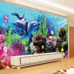 Custom Wall Mural Straw Texture Wallpaper Underwater World 3D Stereoscopic Living Room TV Background Wallpaper Papel De Parede