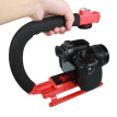 YELANGU S2-3 YLG0106B-C C-shaped Video Handle DV Bracket Stabilizer for All SLR Cameras and Home DV Camera(Red)