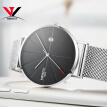 Ultra Thin Men Quartz Wrist Watch Mesh Band Simple Fashion Leather Strap Watch NIBOSI 2018 New Brand Luxury Wristwatches Relogios