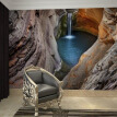 Custom European Style Landscape Cave Waterfall Photo Mural Wallpaper 3D Living R Study Room Sofa TV Wall Backdrop Wall Papers