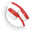 BUDDYPHONES Explore Foldable Kids Headphones Folding Headphones with Microphone Student Learning English Protection Listening Cute Little Red