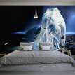 Customized Any Size White Horse Wall Art Painting Photo 3D Wall Mural Wallpaper For Living Room TV Background Bedroom Walls 3D