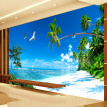 Custom 3D Mural Wallpaper Bedroom Sofa TV Background Wall Papers Home Decor Beach Coconut Grove Modern Wall Painting Wallpaper