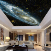 Custom Any Size 3D Wall Mural Wallpaper Galaxy Starry Nebula Ceiling Murals Living Room Sofa Bedroom Backdrop Wallpaper Painting