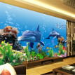 Custom photo wallpaper 3D mural wallpaper underwater world marine fish swimming pool TV living room bedroom wallpaper