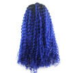 Iwona Synthetic Hair Lace Front Afro Curly Black Root Ombre Blue Wig