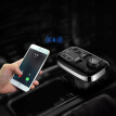 SAST Car Charger Dual USB Port Bluetooth Music Player Cigarette Lighter Voltage Measurement LED Display AY-T67