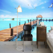 Custom Photo Wall Paper Blue Sky White Clouds Nature Landscape 3D Wallpaper For Living Room Bedroom Mural Wall Papers Home Decor