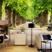 HD Green Forest Road 3D Mural Wallpaper Custom Any Size Fresco Living Room Bedroom Dining Room Interior Design Decor Wallpapers