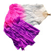 1 Pair Dance Fans Bamboo Ribs Natural Silk Stage Performance Props Dye Fans Women Belly Dance Silk Fans White+Rose+Purple