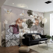 Custom Mural Wallpaper 3D Stereoscopic Relief Pearl Flowers Nordic Retro TV Background Decor Wall Papers Home Decor Living Room
