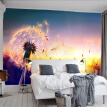 Custom Wall Mural Beautiful Sunset Dandelion Wall Painting Living Room TV Background Murals 3D Relief Non-woven Photo Wall Paper