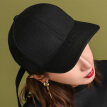 VEDORDNA baseball cap tide male and female wool cap long hat hip hop MZ132 black 57-61 adjustable