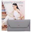 Pierre Cardin (pierrecardin) wallet female fashion simple handbag leather long paragraph clutch bag multi-card female women's coin purse envelope package P7B660031-64D gray