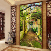 Custom Mural Wall Paper Rolls Pastoral Melon Vine 3D Living Room Entrance Background Home Wall Painting Decor Wallpaper For Wall