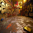 Retro Graffiti 3D Stereo Color Letters Photo Mural Wallpaper Cafe Restaurant KTV Creative Spatial Extension Personality Fresco