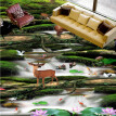 Free Shipping Forest water paste park square study decoration waterproof non-slip thicken floor wallpaper mural 250cmx200cm