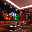 Custom Modern Fashion Style Wall Painting Bar KTV Wall Mural Sofa Background Rock Music Theme Wallpaper For The Walls 3D