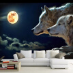 Large Custom 3D Mural Wallpaper Under The Moonlight Wolf Wall Decor Paper Living Room Sofa Bedroom TV Background Photo Wallpaper
