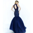 Blue Hollow Summer Sparkles Floor Length Mermaid Wedding Dress