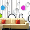 Fashion Color Circle Stripe TV Background Photo Wallpaper 3D Stereo Living Room Kid's Room Modern Simple Murals Papel De Parede