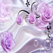 Custom Photo Wallpaper 3D Floral Purple Rose Silk Background Modern Simple Romantic Living Room Bedroom Wall Design Mural Paper