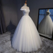 Plus Size Pearls Hand Made Beading Lace Hollow Illusion Bodice Ball Gown Wedding