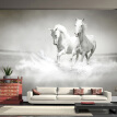Custom Photo Wall Paper 3D White Horse Large Mural Wallpaper Living Room Sofa Mural Wallpaper For Bedroom Walls Contact Paper