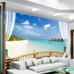 Custom 3D Photo Wallpaper Beach Seaview Large Wall Painting Living Room Sofa Bedroom TV Background Decoration Wallpaper Murale