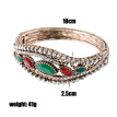 Elegent Banquet Bracelet Jewelry Turkish Vintage Rhinestone Bangle Cuff Women Antique Gold Color Fashion Ethnic Wedding Bijoux