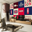 Custom 3D large murals British flag London red Telephone Box fashion Background wallpaper living room sofa TV bedroom