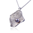 Handmade Jewelry Gift 925 sterling Silver Necklace ARTDOU Pearl Pendant for Women,18""