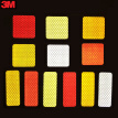 3M reflective stickers universal safety warning scratched stickers bicycle electric safety warning car stickers square 5*5cm (10) fluorescent yellow green