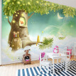 Custom Cartoon Mural Wallpaper For Kids Cartoon Star Moon Tree Wall Mural Warm And Comfortable Photo Wallpaper Papel De Parede
